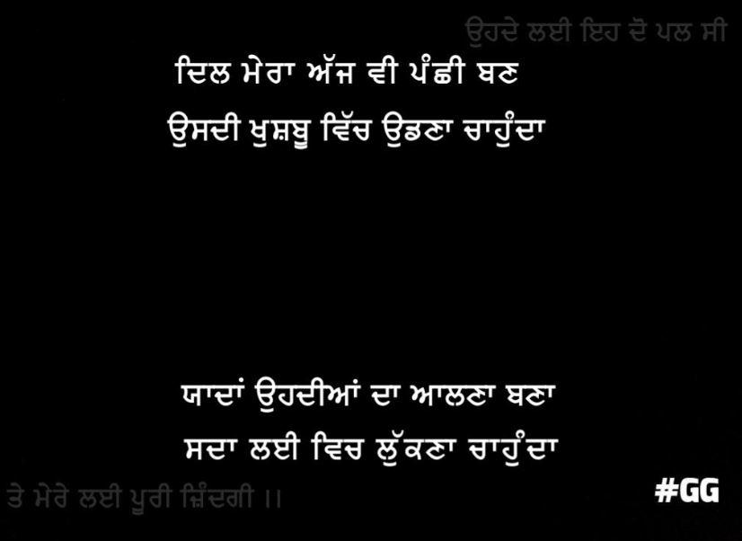 Romantic love shayari | Dil mera ajh v panchhi ban usdi khushbu vich udhna chahunda yaadan ohdiyaan da aalna bna sada lai vich lukna chahunda
