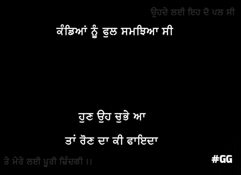 Kandhiyaan nu ful samjhiyaa c hun oh chubhe aa taan raun da ki faida