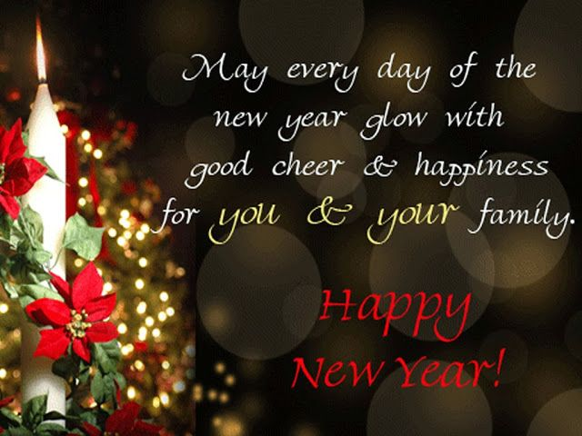 Happy new year 2020 to your family.... || May every day of the new year glow with good cheer and happiness for you and your family