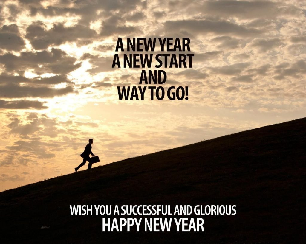 A NEW YEAR A NEW START AND WAY TO GO wish you a successful and glorious Happy New Year
