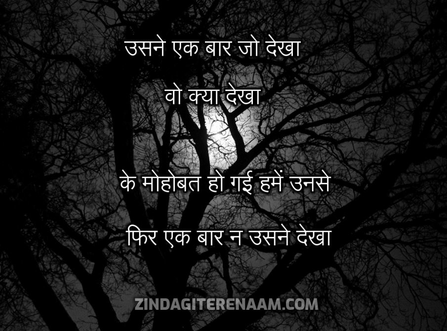 Sad shayari hindi || usne ek baar jo dekha wo kya dekha ke mohobat ho gai hame unse fir ek baar na usne dekha