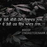 Teri har ikk aadat naal || sacha pyar Punjabi shayari || Punjabi status images