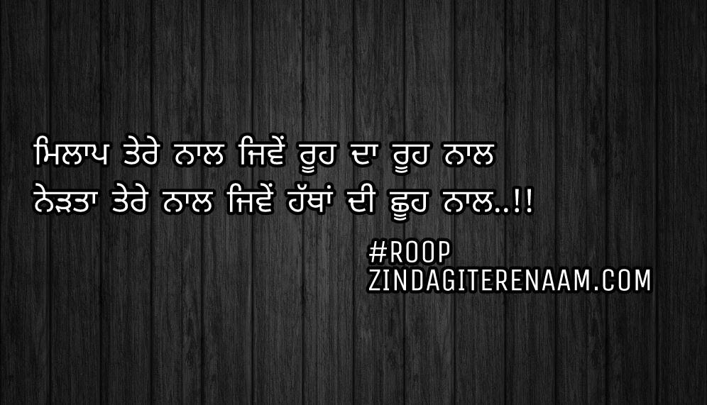 True love Punjabi shayari/Punjabi love status/Milap tere naal jiwe rooh da rooh naal Nedta tere naal jiwe hathan di shooh naal..!!
