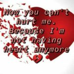 Not having heart anymore || Sad english status