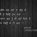 Zahir dass kyu mein hi Kara    true line shayari    Punjabi status