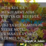 Maa de pYar da koi mul nai || Punjabi Maa Shayari