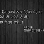 Chehre di khamoshi nu || sad Punjabi status || true lines