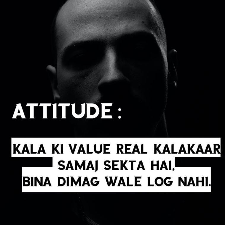 attitude shayari Hindi in ENGLISH || Kala ki value
