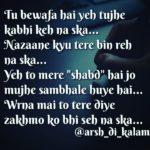 Tere zakhmo ko || hindi sad shayari