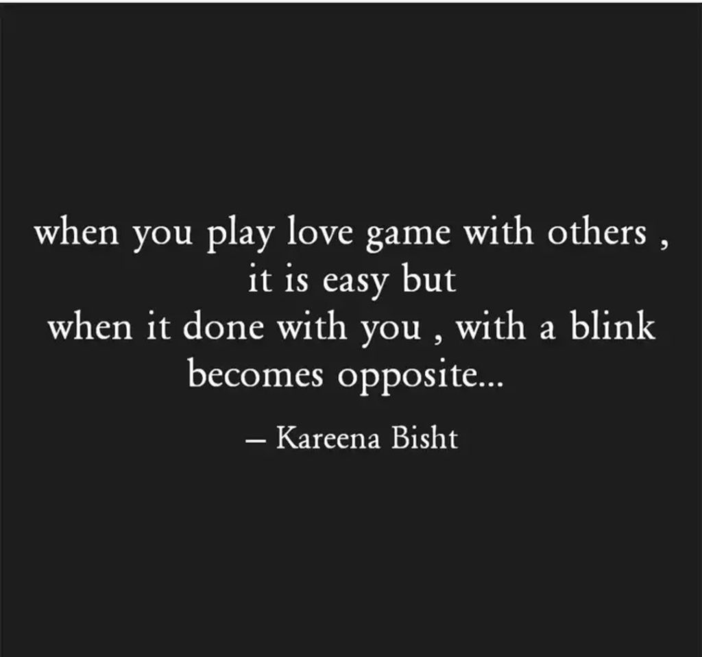 WHEN YOU PLAY LOVE GAMES || ENGLISH THOUGHT